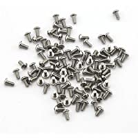 Unidades 100piezas M3* 6mm Botón Cabeza Allen tornillos hexagonales con rosca tornillos de acero inoxidable 304