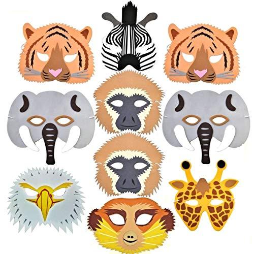 /Dschungel-Tier Schaumstoff-Masken, mit Erdmännchen! Hergestellt von Blue Frog Toys ()