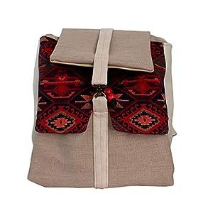 Rucksack Damen 33cm wasserdicht 'beige'| Tasche | HANDMADE | Geschenkideen für Frauen
