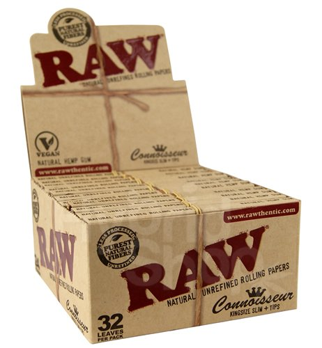 RAW Connoisseur King Size Slim + Tips. - 24 issues by RAW