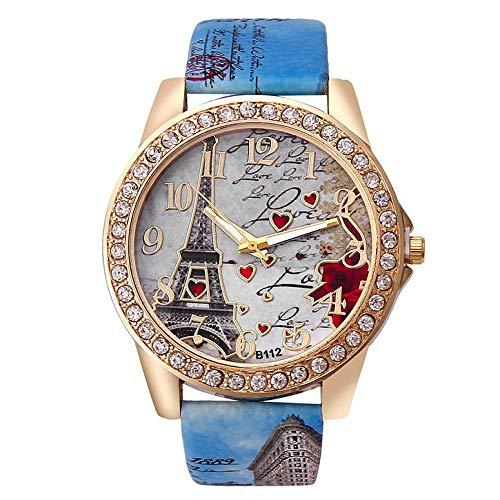 Za21-L koreanische Art-beiläufige Uhr-Frauen-Wasserdichtes Leder Luxusuhr Datum Quarz-Uhr-Uhren voller Diamant-Uhr-Dial