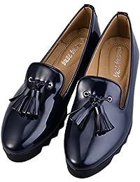 Hengfeng Cuero Borla Barco Antideslizante Zapatos 1346-17