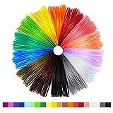 NEXGADGET Filamenti Ricambio per 3D Penna 20 Colori Diversi 1.75mm PLA 340 piedi (16 Colori + 4 Colori Luminoso nel Buio) Ogni 17 Piedi per 3D Penna