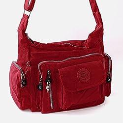Bag Street Umhängetasche Bodybag Nylon (rot)