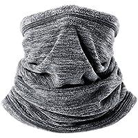 Arcweg calentador de cuello de forro polar tubular unisex bufanda de cuello antiviento y multiuso pañuelo cuello de esquí ciclismo senderismo Gris