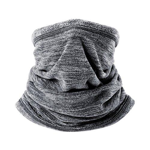 Arcweg calentador de cuello de forro polar tubular unisex bufanda de cuello...