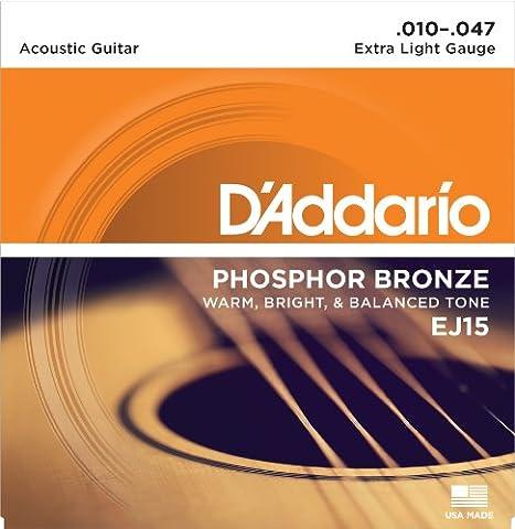 D'Addario EJ15 Phosphor Bronze Extra Light (.010-.047) Acoustic Guitar