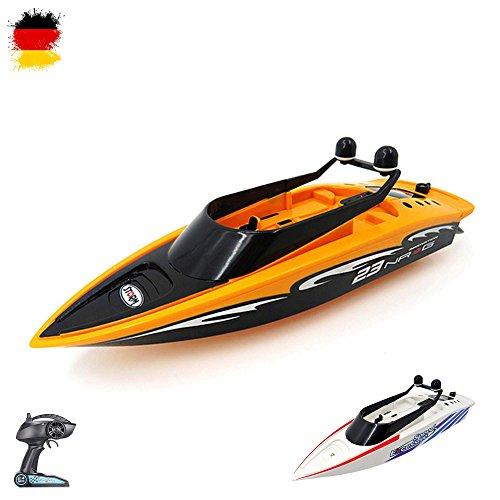 HSP Himoto 2,4GHz RC ferngesteuertes Speedboot Racingboat Katamaran Schiff-Modell mit Top-Speed Einsteiger Racingboat, Ready-to-Run, Top-Design, Komplett-Set mit Akku und Ladegerät