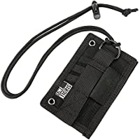 OneTigris Tactical ID Card Holder Velcro Patch Badge Holder Neck Lanyards Key Ring and Credit Card