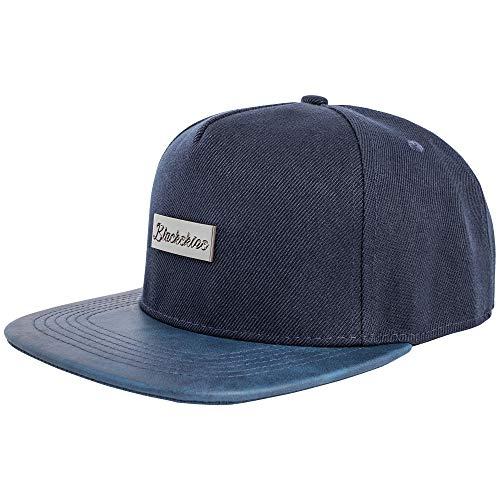 Blackskies Vanguard Snapback Cap Navyblau Herren Baseball Mütze Kappe Suede Kunst-Leder