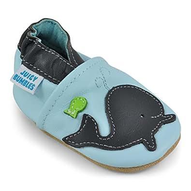 Chaussure Bebe Garcon - Chausson Enfant Garcon - Chaussures Bébé - Chaussons Bébé Cuir Souple - Baleine - 0-6 Mois