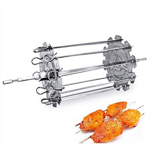 51Zoby9XYBL - Wdj BBQ Barbecue Roestkebab Kebab Maker Fleisch Brochettes Spiess Maschine BBQ Grill Zubehoer Werkzeuge Set