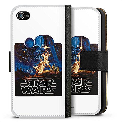 Apple iPhone X Silikon Hülle Case Schutzhülle Star Wars Merchandise Fanartikel Episode IV Sideflip Tasche schwarz