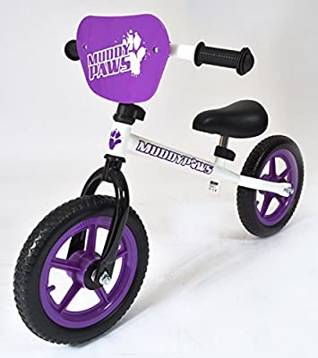New Girls Muddypaws Blance Grow Bike Purple/White - Purple/White