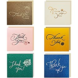 30pcs Tarjetas de Agradecimiento con Sobre Boda