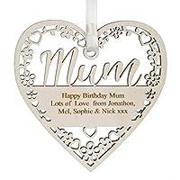 Alphabet barn Mum Birthday Present or Thank You Gift Personalised Plaque Handmade Keepsake Decoration 12.5cm x 5mm with gift bag