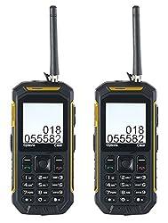 Simvalley Mobile Handfunkgerät: Dual-SIM-Outdoor-Handy mit Walkie-Talkie-Funktion, 2er-Set (Funk Handy)