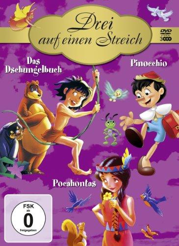 Drei auf einen Streich ( Das Dschungelbuch / Pinocchio / Pocahontas ) [3 DVDs]