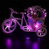 PEJGD Tira LED LED Estrellado Luces de Cadena Solar 8LED Botella de Vino de Corcho en Forma de Noche Luces de Hadas lámpara para jardín Boda Decorativo y Fiesta de Navidad 4PCS