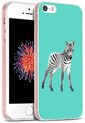 iPhone SE Fall Eule/iwone Apple iPhone 5S 5SE Schutzhülle TPU Skin Cover Schutz Gummi Silikon + Funny Herr Eule in Brille Design Animal, IWONEQ2