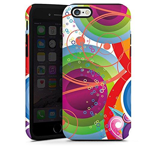 Apple iPhone 4 Housse Étui Protection Coque Bulles couleurs Vrilles Cas Tough terne