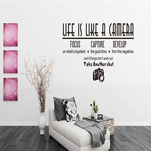 HFWYF Das Leben ist wie Kamera Schlafzimmer Wohnzimmer dekorative Wandaufkleber 57x29.7cm - Wie Ist Kamera Leben Das Eine