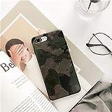 FENGT Custodia per Telefono Apple per iPhone XS Max/XS/XR / 8/7/6 Plus Manica Verde Militare Mimetica all-Inclusive,iPhoneX/XS
