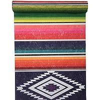RP RIBBON - Camino de mesa con impresión de estilo mexicano multicolor (30 cm x 5 m)