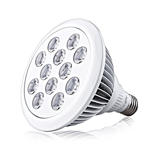 Amzdeal Pflanzenlampe E27 24W LED Pflanzenlampe für Zimmerpflanzen Blume Gemüsse