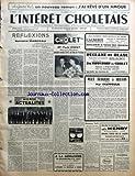 INTERET CHOLETAIS (L') [No 3] du 17/01/1959 - REFLEXIONS PAR BERNARD MANCEAU - MONDE...