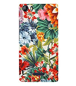 Fiobs Designer Back Case Cover for Micromax Canvas 5 E481 (Flowers Theme Floral Love Lovely Gift)