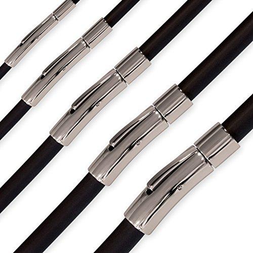 Fly Style Damen Herren Kautschuk Halskette oder Armband, Längen:ca. 50.0 cm, Stärke:4 mm