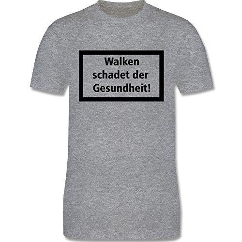Laufsport - Walken schadet der Gesundheit - Herren Premium T-Shirt Grau Meliert