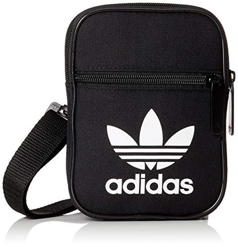 adidas Trefoil Festival Schultertasche, Black, 12 x 17 x 2 cm (Logo Handtaschen Gucci)