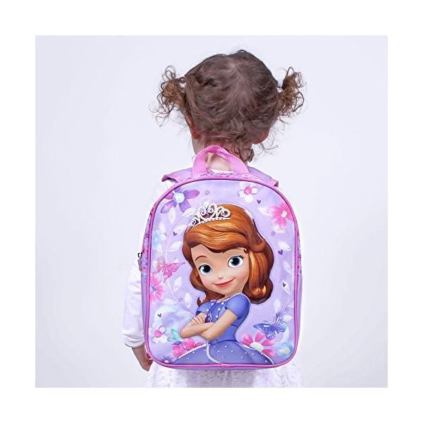 PERLETTI Mochila para Niña La Princesa Sofía – Bolsa Infantil Escuela y Guarderia Estampado Sofia the First – Bolso…