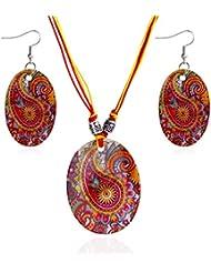 LUFA Ensemble de pendentifs à motif ovale à motif ovale Ensembles à bijoux en forme de coquillage naturel