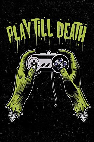 Play Till Death: Zombie Gamer Staff Blank Sheet Music Book For Men, Women, Teen and Kids 2 Headset Pack