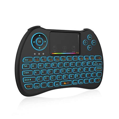 AOTUO Mini-Upgrade H9 mit Farb-Hintergrundbeleuchtung, Fernbedienung, kabellos, unterstützt Multi-Finger-Unterstützung - Farb-touchpad