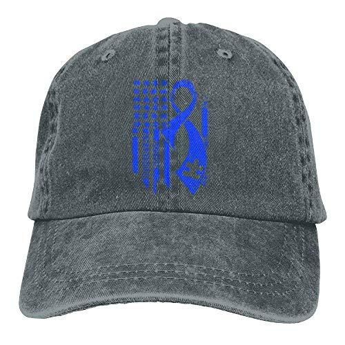 dfegyfr Justierbare Garn-gefärbte Denim-Baseballmützen Autismus-Bewusstseins-Flaggen-einfache Kappe Fashion28 -