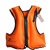 Kingswell Kids Inflatable Life Jacket Teens Swim Vest for Youth Weight Over 80-220Lbs
