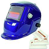 Generic Solar Automatischer Verdunkelung Schweißmaske Helm Maske 4 Farbwechsel - Blau