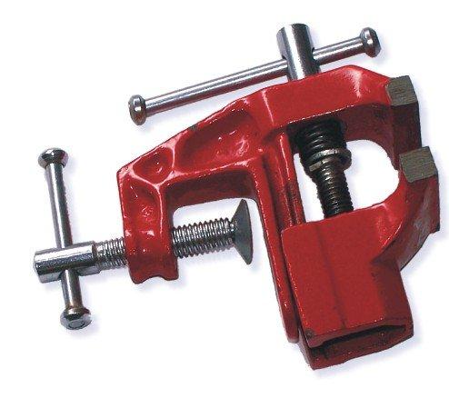 Tischschraubstock Spannweite 60mm Backenbreite 60mm Metallguss Rot Robuste Tisch Schraubstock Schraubstock Tisch Modellbau Werkbank