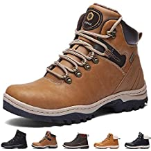 SIXSPACE Hombre Botines Zapatos Botas Nieve Invierno Botas Impermeables Fur Forro Aire Libre Boots