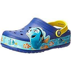 Crocs CrocsLights Finding Dory Clog Kids, Unisex - Kinder Clogs, Blau (Cerulean Blue/Lemon), 29/30 EU