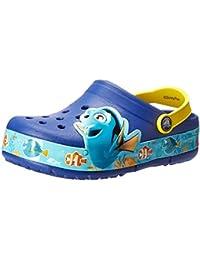 crocs Unisex-Kinder CrocsLights Finding Dory Clog Kids, Blau (Blue Lemon)