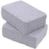 Hemore 2pcs Asar a la Parrilla Limpia Inodoro USA la Parrilla de Piedra de Varios Ladrillos