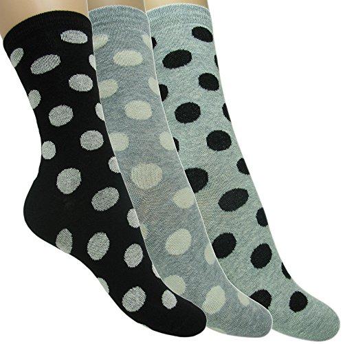 3 pares de calcetines de algodón de colores para mujer
