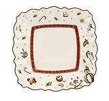 Villeroy & Boch Toy's Delight Piatto per Pane Quadrato, 17 x 17cm, Porcellana Premium, Bianco/Rosso