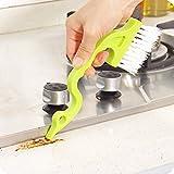 SINOTECH Reinigungsbürsten, Groove-Schere mit Tür-Küchen-Pinsel-Set, plastik, grün, as show