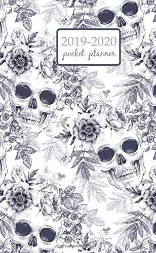 2019-2020 Pocket Planner: 2 Year Pocket Monthly Calenda Planner 4 x 6.5 inch the skull and exotic tropical flowers on a white background, 8 x 10 inch ... dead Fantasy (2 Year Pocket Monthly planners) 6.5 Chaos